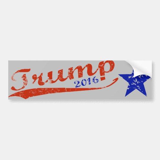 Trump 2016 Star Bumper Sticker