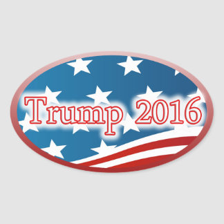 TRUMP 2016 - SUPPORT ELECT PRESIDENT OF THE USA OVAL STICKER