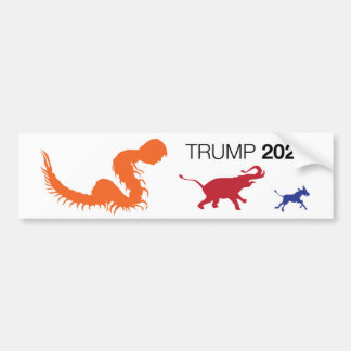 Trump 2020 Centipede Trumper Sticker Bumper Sticker