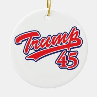 Trump 45! christmas ornament