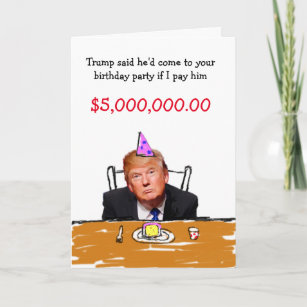 Trump 5000000 Birthday Holiday Card