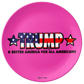 Trump! A Better America for All! PINK PLATE