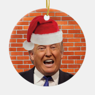 Trump, All he wants is his wall Christmas Ornament