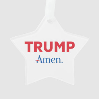 TRUMP Amen. Ornament