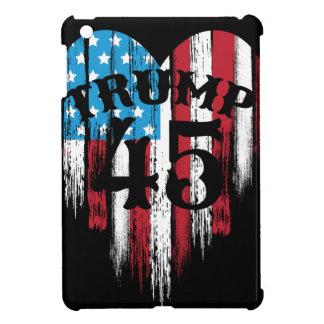 Trump American Flag Heart iPad Mini Cover