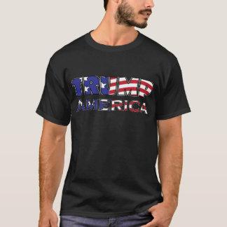 Trump American Flag Text T-Shirt