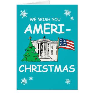 Trump and Hillary Wish You Ameri-Christmas Greeting Card
