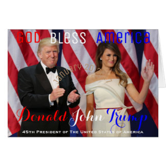 Trump and Melania Salute Our Armed Services Ball Card