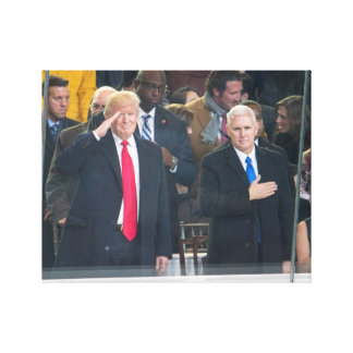 Trump and Pence Saluting Canvas Print