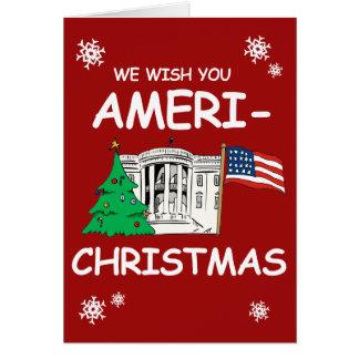 Trump and Pence Wish You Ameri-Christmas Greeting Card