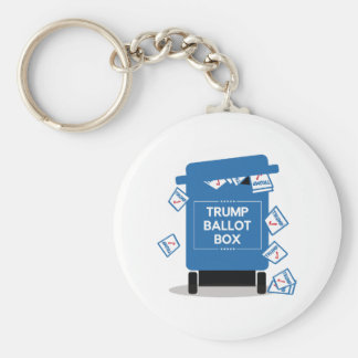 Trump Ballot Box Basic Round Button Key Ring