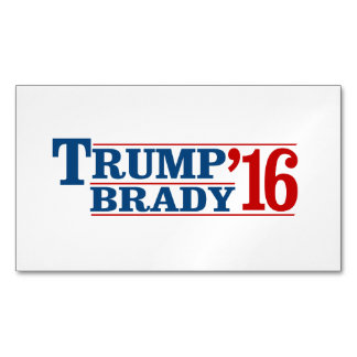 Trump Brady '16 Magnetic Business Cards