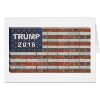 Trump Brick Wall Flag Card