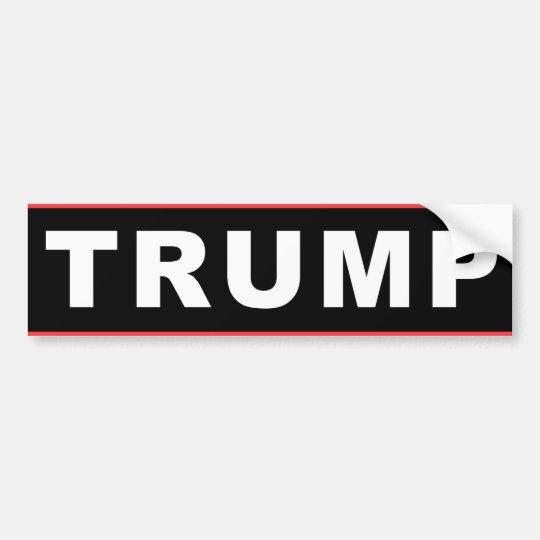 Trump (Bumper Sticker Black Logo) Bumper Sticker