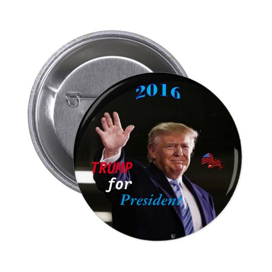 Trump Campaign Button, By AntsAfire 6 Cm Round
