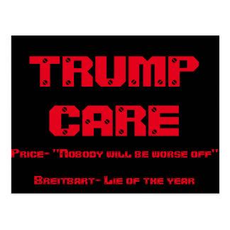 trump care post card