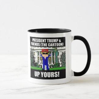 Trump Cartoon Up Yours Mug