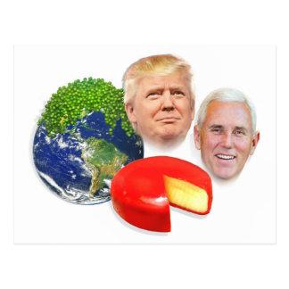 Trump Christmas, Peas on Earth Gouda Wheel Postcard