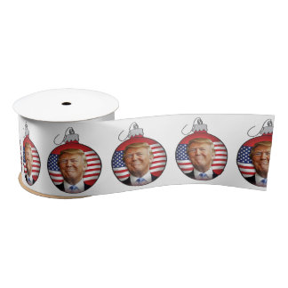 Trump Christmas Satin Ribbon