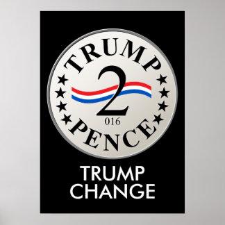 Trump (Chump) Change, Trump (2) Pence (2016) Poster