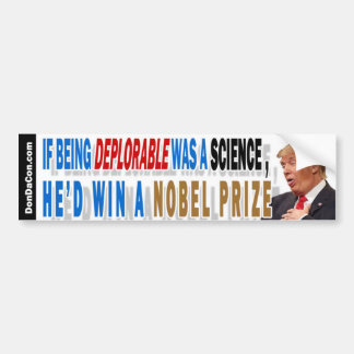 Trump Deplorable Science Bumper Sticker