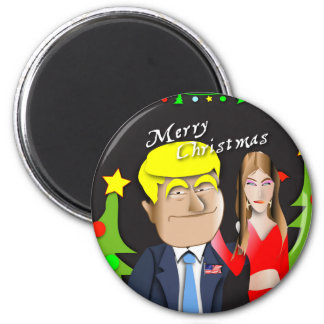 Trump, Donald, Melania, Christmas, gift, present, Magnet