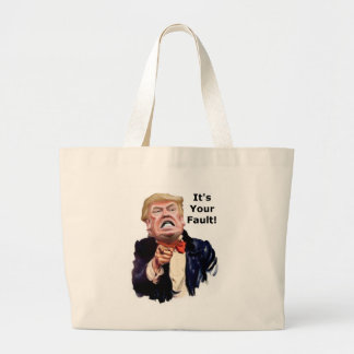 Trump finds fault large tote bag