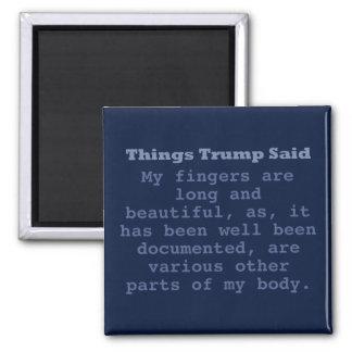 """Trump Fingers - 2"""" Square Magnet"""