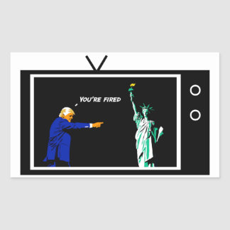 Trump Fires Lady Liberty Sticker
