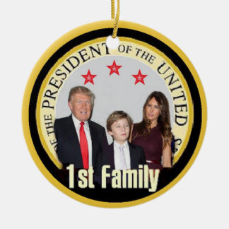 TRUMP First Family Christmas Ornament