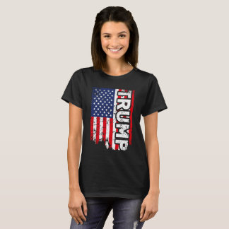 Trump Flag USA American Patriotic Shirt for Women