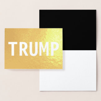 TRUMP FOIL CARD