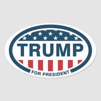 Trump for president 2016 oval sticker