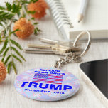 Trump For President 2016 USA American Flag Basic Round Button Key Ring