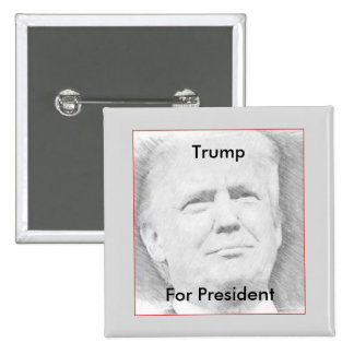 Trump For President Button