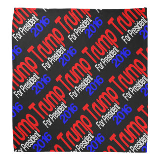 Trump For President Red White and Blue Do-rag