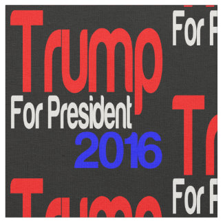 Trump For President Red White and Blue Fabric