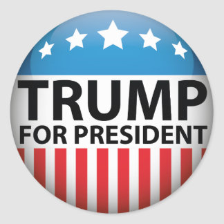 Trump For President Round Sticker