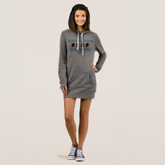 Trump Free Chicago Hoodie Dress
