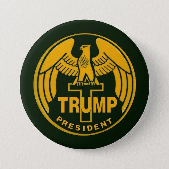 Trump Gold Eagle 7.5 Cm Round Badge