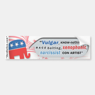 Trump GOP Supporters Bumper Sticker