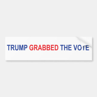 Trump Grabbed the Vote Bumper Sticker