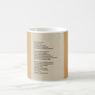 trump hair coffee mug
