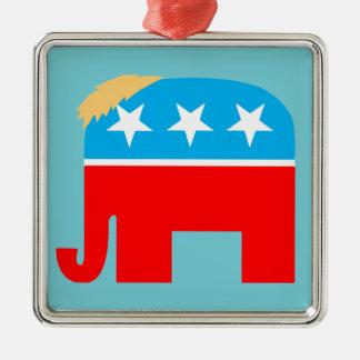 Trump Hair Republican GOP Elephant DJT Christmas Christmas Ornament