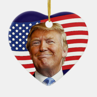 Trump Heart Ceramic Heart Decoration
