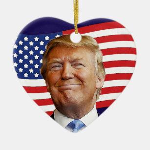 Trump Heart Christmas Ornament