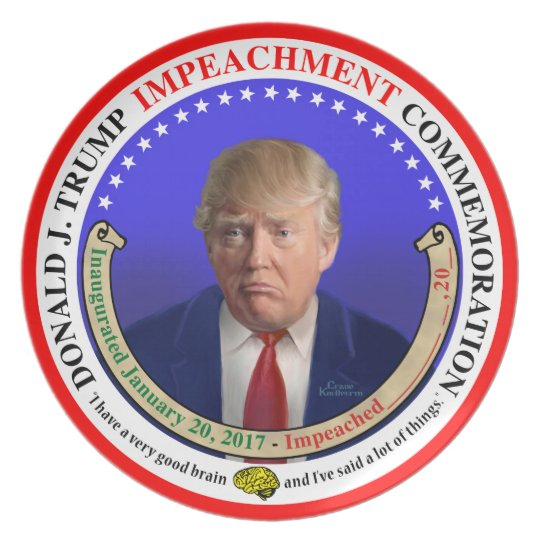 Trump Impeachment Commemorative Plate
