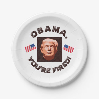 Trump Inauguration 2017 Custom Color Paper Plate