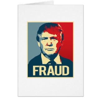 Trump is a Fraud -.png Greeting Card