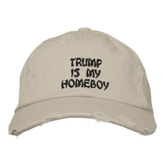 Trump is my homeboy distressed chino twill cap
